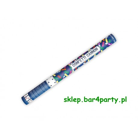 Tuba strzelająca z konfetti i serpentynami, mix, biały, 60cm