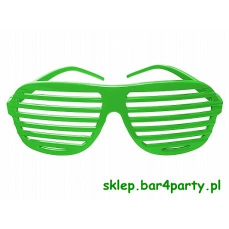 Okulary żaluzje kolor zielony
